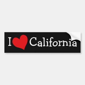 I Love California Bumper Sticker