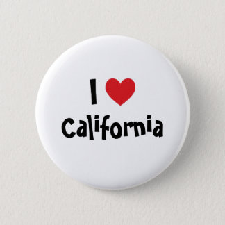 I Love California Button