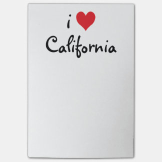 I Love California Post-it Notes