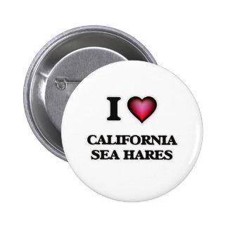 I Love California Sea Hares 2 Inch Round Button