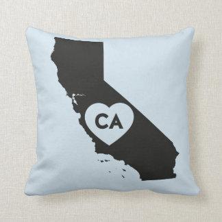 I Love California State Throw Pillow