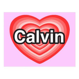 I love Calvin. I love you Calvin. Heart Postcard