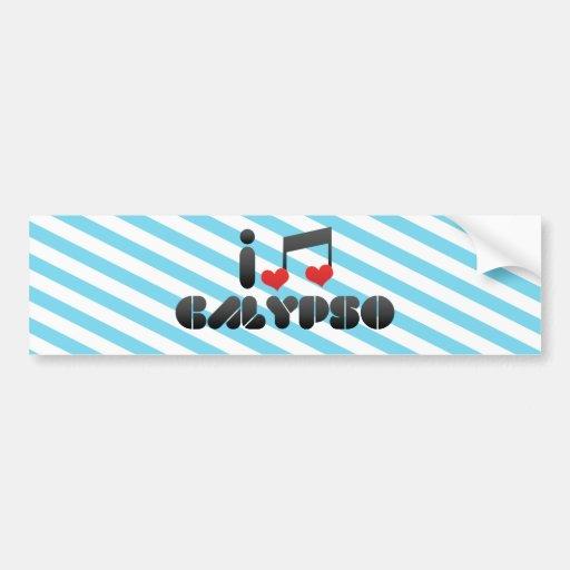 I Love Calypso Bumper Sticker