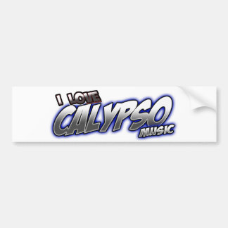 I Love CALYPSO music Bumper Stickers