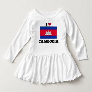 I Love Cambodia, Cambodian Flag Dress