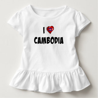 I Love Cambodia, flag of Cambodia Toddler T-shirt