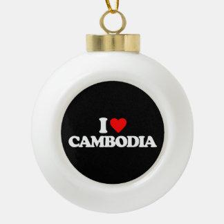 I LOVE CAMBODIA ORNAMENT