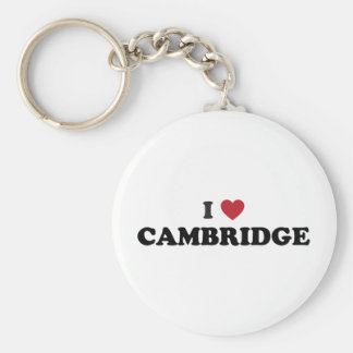 I Love Cambridge Massachusetts Keychain