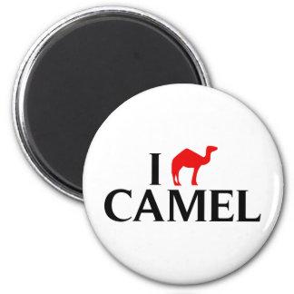 I Love Camels 2 Inch Round Magnet