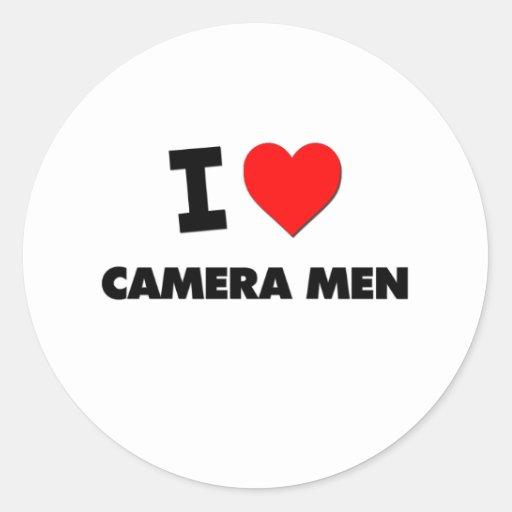 I Love Camera Men Sticker