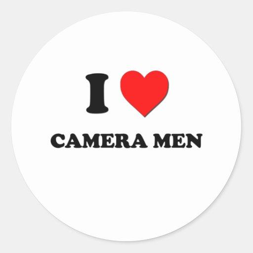 I Love Camera Men Round Sticker
