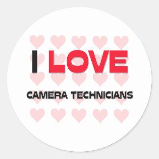 I LOVE CAMERA TECHNICIANS STICKERS