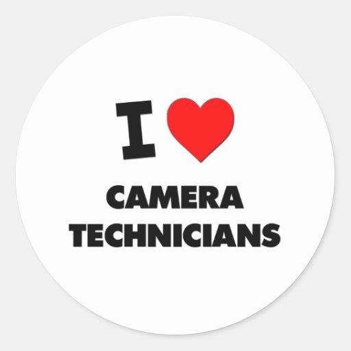 I Love Camera Technicians Sticker