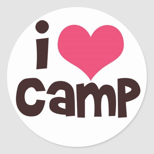 I Love Camp Classic Round Sticker