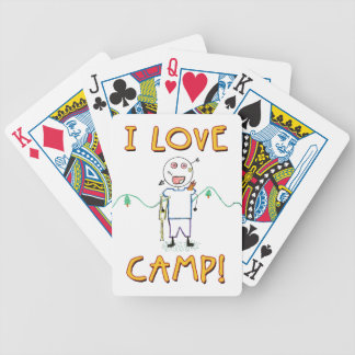 I Love Camp - Funny Summer Camp Bicycle Playing Cards