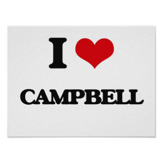 I Love Campbell Poster