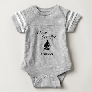 I Love Campfire S'mores Baby Bodysuit