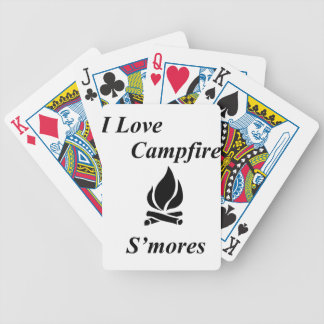 I Love Campfire S'mores Bicycle Playing Cards