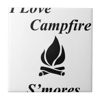 I Love Campfire S'mores Ceramic Tiles