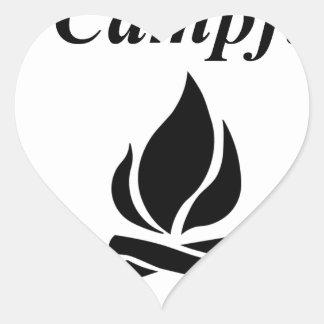 I Love Campfire S'mores Heart Sticker