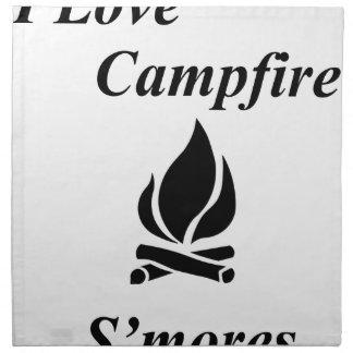 I Love Campfire S'mores Napkin