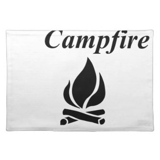 I Love Campfire S'mores Placemat