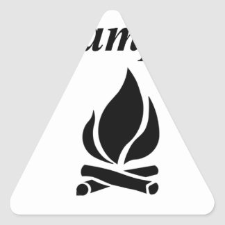 I Love Campfire S'mores Triangle Sticker