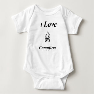 I Love Campfires Baby Bodysuit