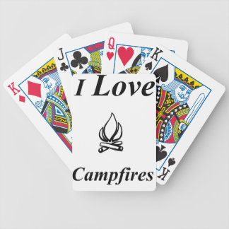 I Love Campfires Bicycle Playing Cards