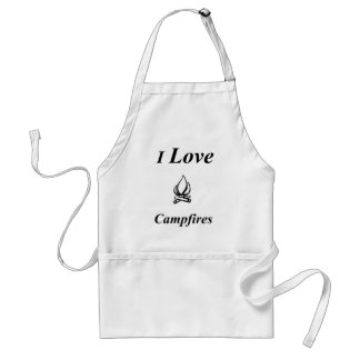 I Love Campfires Standard Apron