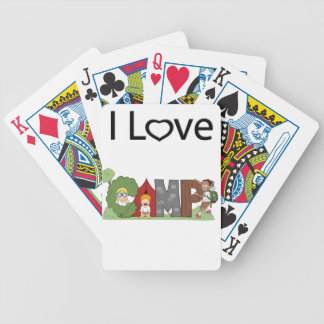 I Love Camping Bicycle Playing Cards
