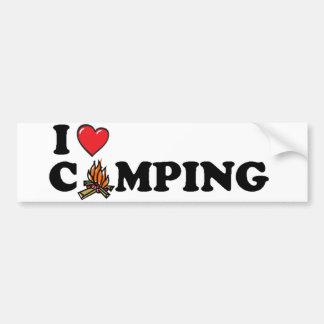 I Love Camping Campfire Bumper Sticker