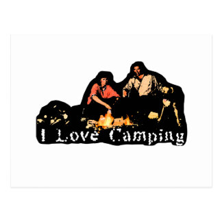 I Love Camping Family Time Postcard