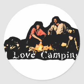 I Love Camping Family Time Round Sticker