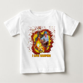 I Love Camping Fire Spark Baby T-Shirt