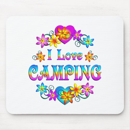 I Love Camping Mouse Pad