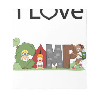 I Love Camping Notepads