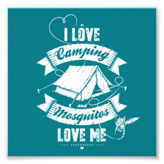 I love camping photo print
