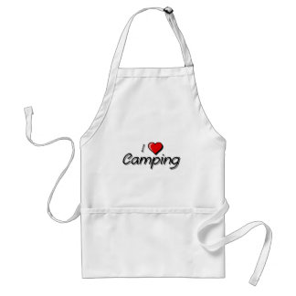 I Love Camping Standard Apron