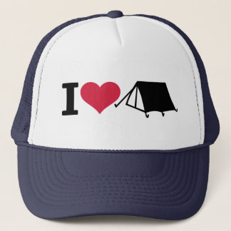 I love camping - tent trucker hat