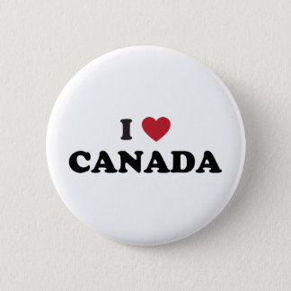 I Love Canada 2 Inch Round Button