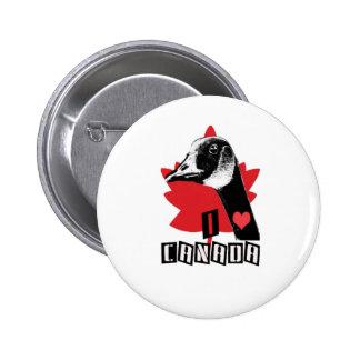 I Love Canada 2 Inch Round Button