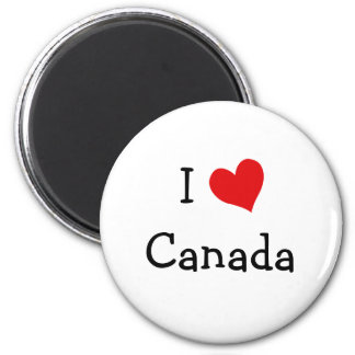 I Love Canada 2 Inch Round Magnet