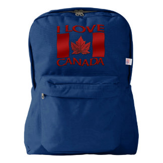 I Love Canada Backpack Canada Souvenir Customize