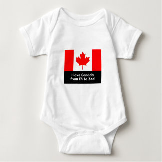 I love Canada from Eh to Zed Baby Bodysuit