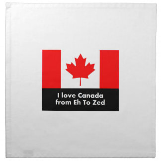 I love Canada from Eh to Zed Cloth Napkins