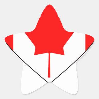 I Love Canada - Heart Vintage Flag T-Shirts Star Sticker