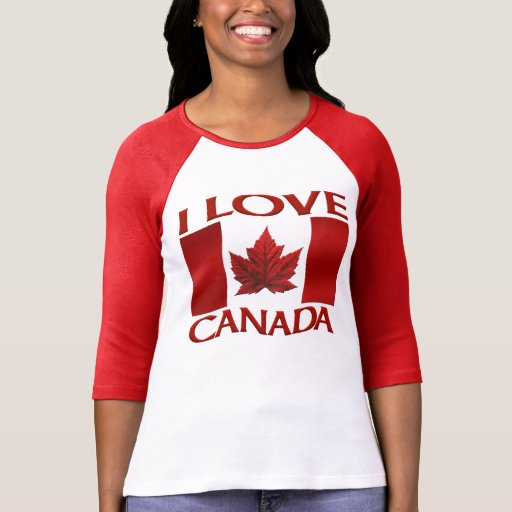 I Love Canada Jersey Canada Souvenir Sports Shirt