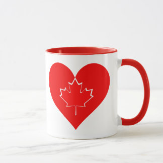 I love Canada Patriotic Heart Maple leaf Mug