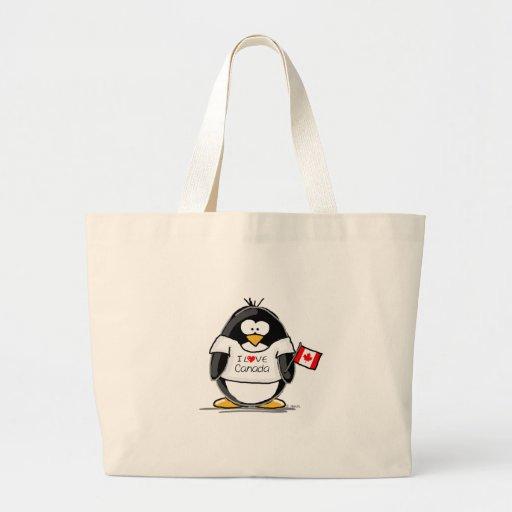I Love Canada Penguin Tote Bag